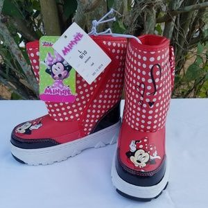 Disney Minnie Mouse Girls Boots NWT